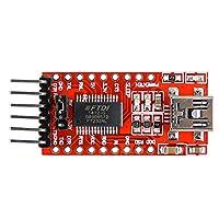 FT232RLモジュールUSB to TTL シリアル コンバーター アダプター モジュール ミニ USB-TTL シリアル アダプタ
