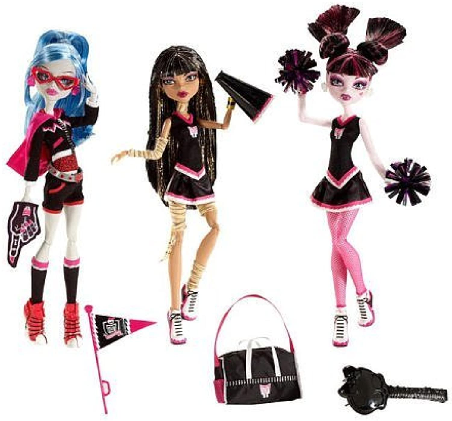 Exclusive Monster High Ghoul Spirit Doll 3Pack  Draculaura, Cleo de Nile and Ghoulia Yelps