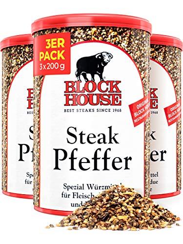 Block House Steak Pfeffer Gewürzmischung 3x 200g - in Restaurantqualität