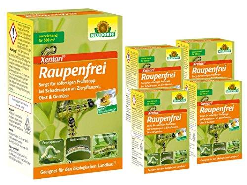 Neudorff Raupenfrei Xen Tari 5 x 25 g Sparpaket + gratis 20g Kressesamen Sprint