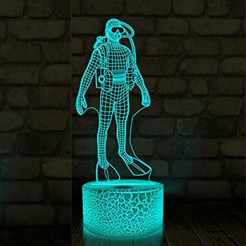 Luces Deslizantes Led De Buceo 3D Con Luz Nocturna Usb 7 Colores Para El Dormitorio De Los Niños, Mesita De Noche, Regalos De Navidad Para Niños
