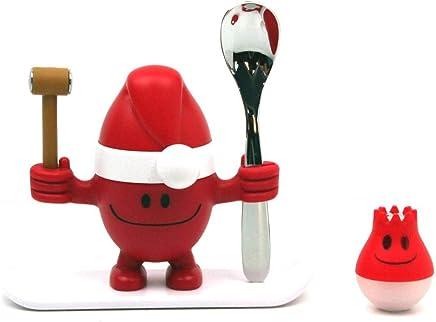 Preisvergleich für WMF X-Mas McEgg Eierbecher-Set, mit Löffel und Salzstreuer, 2-teilig, Kunststoff, Cromargan Edelstahl poliert, spülmaschinengeeignet, H 11 cm, rot