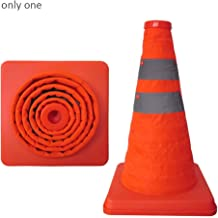 Multi-Functional Traffic Cone Folding Collapsible Orange Road Safety Cone Traffic Pop Up Parking Multi Purpose Stripe Safety (Color : Orange, Size : 30cm)