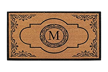 A1 Home Collections A1HC407M Hand Crafted Anti Shred Treated Entry Monogrammed Doormat 30  X 48  M