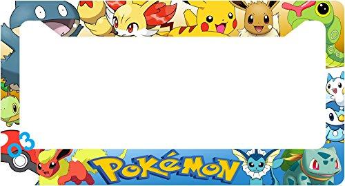 Pokemon Pikachu Eevee Snorlax Pop Auto Car Frame Collage License Plate Frame Aluminum (Group)