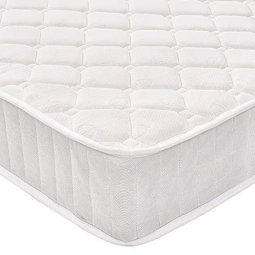 Quilted Fabric Sprung Memory Foam Mattress for Divan Bed with Breathable Foam and Individually Pocket Spring Hypo Allergenic Vacuum Packed (3FT Single)