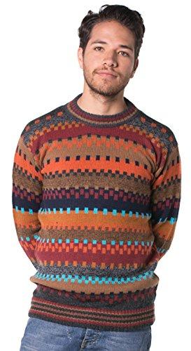 Gamboa - 100% Alpaca Sweater - Premium Alpaca - Multicolored Earth Colors