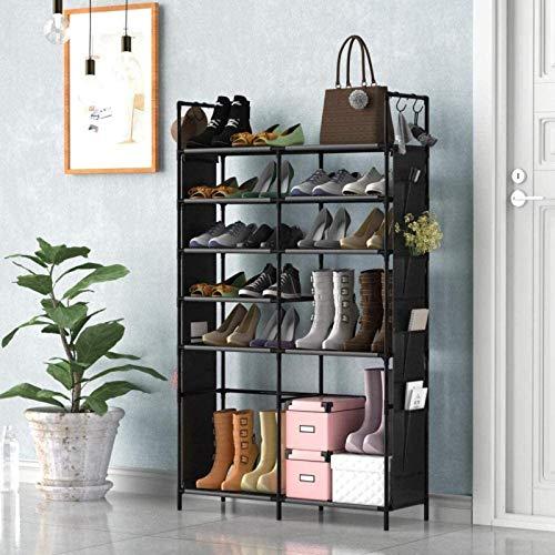 Ranuras de zapato ajustables Organizador Bastidore Gris 5 8 10 niveles Estera de zapatos 25 40 50 pares Non-tejido Tela Zapato Torre Almacenamiento Organizador Gabinete Rack de soporte de zapato de ah