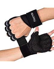 FREETOO トレーニング ウェイトトレーニング グローブ 筋トレ ジム リストフラップ付き 滑り止め 通気 手首保護 4サイズ S/M/L/XL 握力サポート (5 XXL)