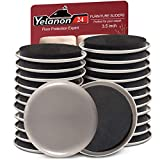 """Yelanon Furniture Sliders for Carpet Hardwood Floors,24pcs-3 1/2"""" Heavy Duty Furniture Movers Sliders Reusable Furniture Moving Pads,Protect All Carpet Surfaces,Move Heavy Furniture Easy and Quickly"""