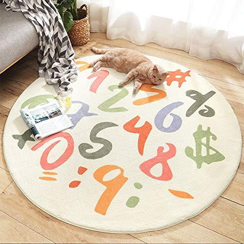 Alfombra de juego para niños, números, alfombra educativa, suave felpa, para sala de juegos, antideslizante, divertida, para decoración de dormitorio infantil, guardería, mejor regalo(Size:120cm)