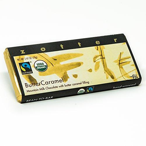 Zotter Bergmilchschokolade mit Butterkaramell, handgeschöpft (70 g) - Bio