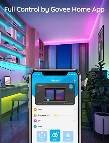 Govee 32.8 Feet Led Strip Lights Work with Alexa and Google Assistant RGB for Room Kitchen 7