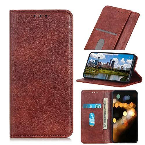 Wuzixi Funda para Wiko Jerry 4. Ranuras para Tarjetas, PU Cuero Flip Folio Carcasa, con Soporte Plegable Apto para Wiko Jerry 4 Smartphone.Marrón