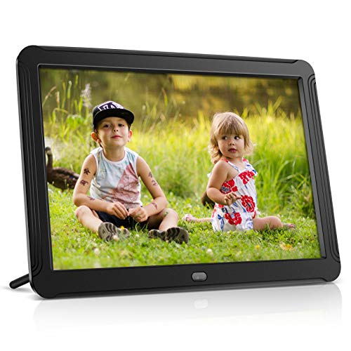 Digital Picture Frame, toberto 8 Inch Electronic Picture Frames 1920x1080 IPS Screen Digital Photo Frame 16:9 Widescreen Support 1080P Video, Music, Auto Rotate, Slideshow, Remote, Calendar (Black)