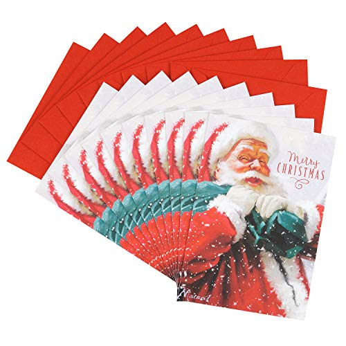 Hallmark Christmas Cards Pack, St. Nick (10 Cards with Envelopes)