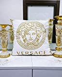 32Butler Mode Dekokissen Abdeckung Antik Gold Medusa Kopf Motiv weiß Kissen Wohnzimmer Dekor...
