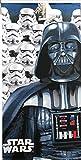 N Import Star Wars Toalla microfribra 140x70, Microfibra, Multicolor, 1440x70 Cm