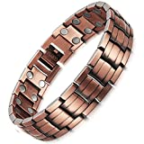 HZX PURE COPPER Magnetic Therapy Bracelet Size Adjustable For Men Pain Relief
