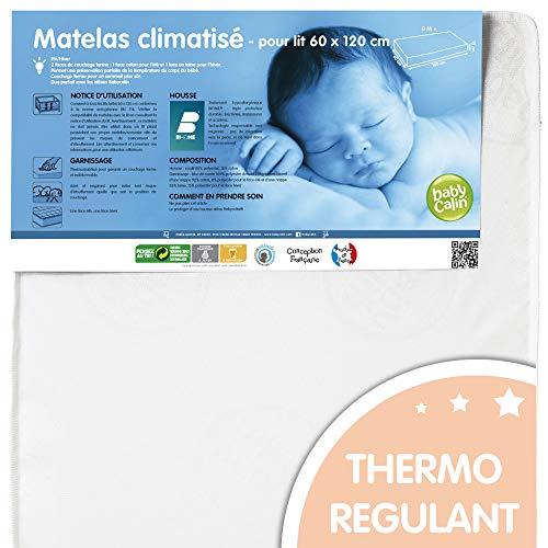 BABYCALIN Colchón Dril Climatizado - 60 x 120 cm