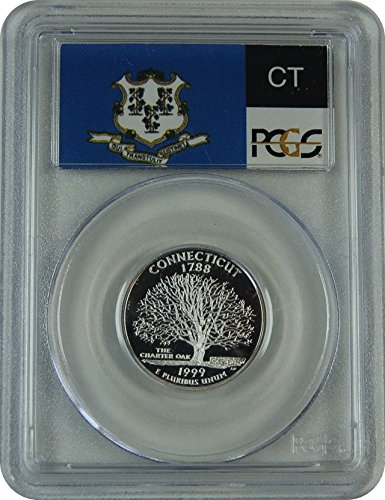 1999 S Connecticut Silver Statehood Connecticut Silver Statehood Quarter DCAM PCGS PR-69