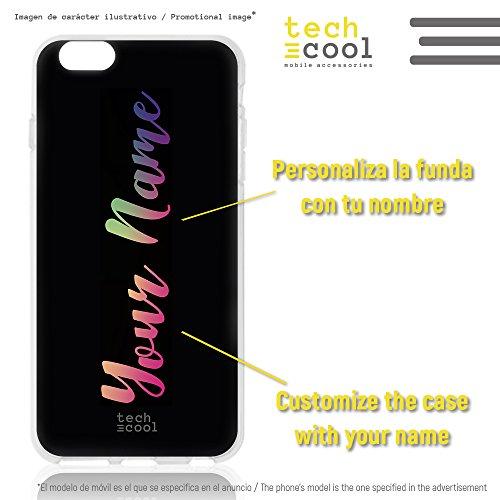 Funnytech® siliconen beschermhoes voor iPhone 7 Plus/8 Plus [flexibele siliconengel, exclusief design] design letters 2 versies 1