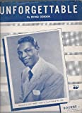 "sheet music cover: ""Unforgettalbe"""