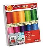 Gütermann creativ Nähfaden-Set mit 10 Spulen Allesnäher 100 m in verschiedenen Farben