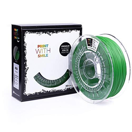 Print with Smile 3D Drucker ASA Filament | 1,75 mm für 3D Printer und 3D Stift | hochwertig Filament für 3D-Drucker und 3D-Pen 850 g (yellow green)