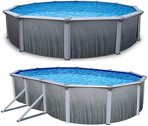 Blue Wave Products Martinique 52' Tall Steel Above Ground Pool Kit Plus Starter Package (18' x 33' Oval)