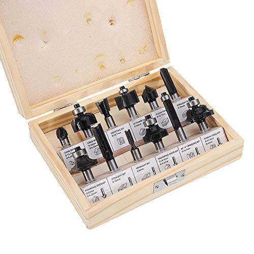 ILS Lot de forets en carbure de tungstène avec tige de 12 mm 8 mm et cutter à bois