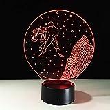 Luz de Noche 3D Constelación Libra Led Lámpara de ilusión óptica Luz Nocturna Dormir Lámpara 16 Colores de Control Remoto Dormitorio Regalos Cumpleaños Niños