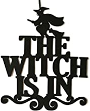 youeneom Halloween Hanging Welcome Sign Trick Non-Woven Trick Or Treat and The Witch is in for Door and Wall Decoration Indoor Outdoor Yard Haunted House Party Supplies (A)