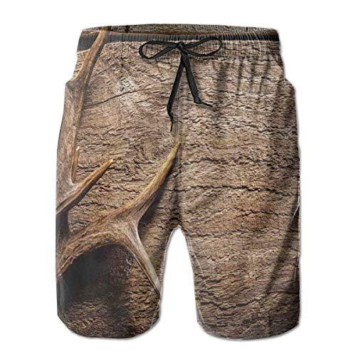 gatetop Pantalones Cortos de Playa para Hombres Troncos de natación, astas de...