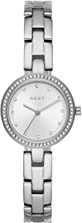 DKNY Wrist stainless steel Watch For Women, Silver, NY2824