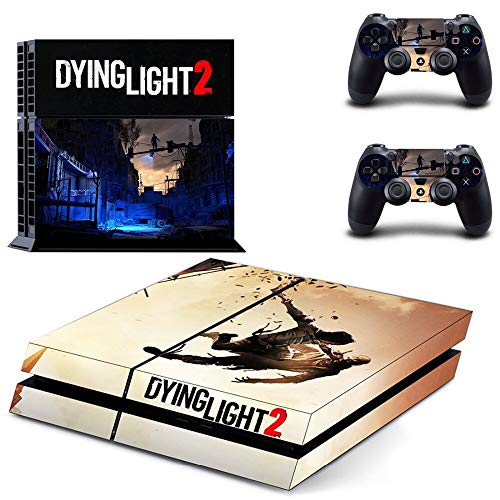 FENGLING Juego Dying Light 2 Ps4 Skin Sticker Decal para Playstation 4 Console y 2 Controller Skin Ps4 Sticker Accesorio de Vinilo