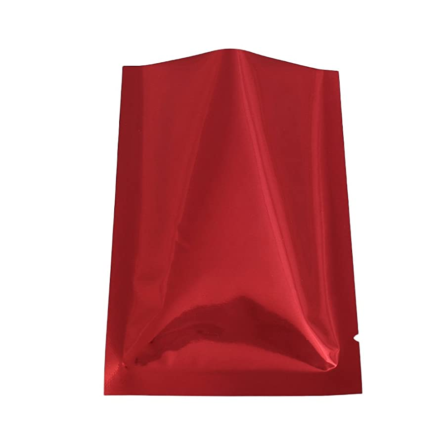 QQ Studio 100 PCS Metallic Mylar Foil Open Top Sealable Bags (8x12cm(3.1x4.7