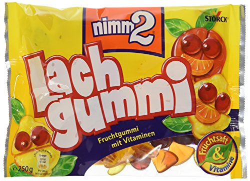 nimm2 Lachgummi – Spaßiges Fruchtgummi mit Vitaminen – 15er Pack (15 x 250g Beutel)
