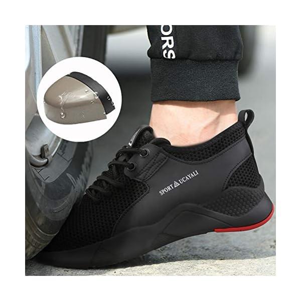 Ucayali Zapatos de Seguridad Hombre Trabajo Cómodas, Zapatillas de Trabajo con Punta de Acero Ultraligero Transpirables, 39-47