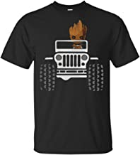 Baby Groot Drive Jeep T-Shirt for Men