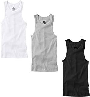 3-6 Pack Men's 100% Cotton Wife Beater A-Shirts Undershirt Plain Ribbed Tank Top