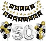 50 Geburtstag Dekoration Set, Deko Geburtstag, Geburtstagsdeko, Happy Birthday Dekoration. Zahlen...
