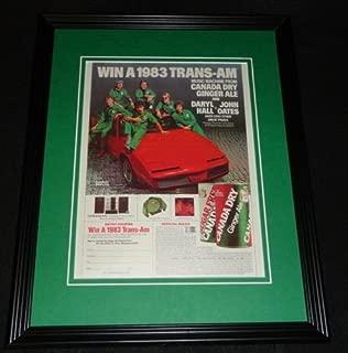 Hall & Oates 1983 Canada Dry Trans Am Framed 11x14 ORIGINAL Advertisement