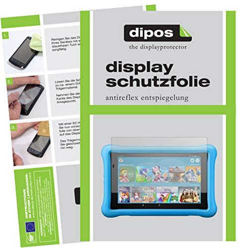 dipos I 2X Schutzfolie matt kompatibel mit Amazon Fire HD 8 Kids Edition (2018) Folie Bildschirmschutzfolie