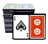 Baron Barclay ACBL (American Contract Bridge) Playing Cards - 6 Double Decks - Plastic Coated - Bridge Size