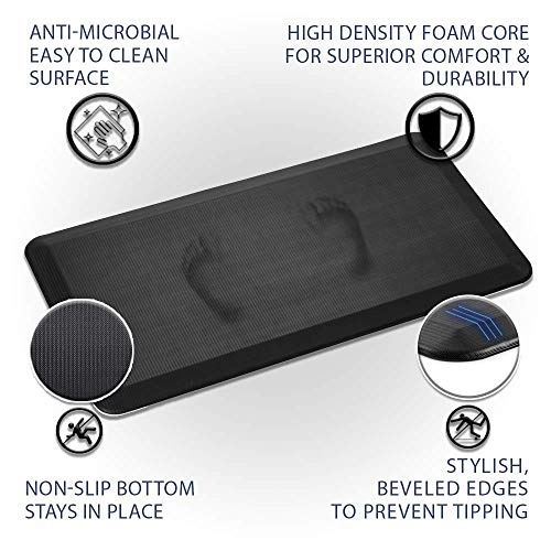 ComfiLife Anti Fatigue Floor Mat – 3/4 Inch Thick Perfect Kitchen Mat, Standing Desk Mat – Comfort at Home, Office, Garage – Durable – Stain Resistant – Non-Slip Bottom (20