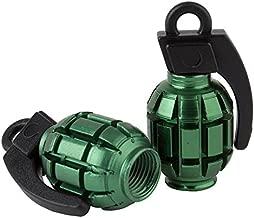 Black Ops Grenade BMX Schrader Valve Caps