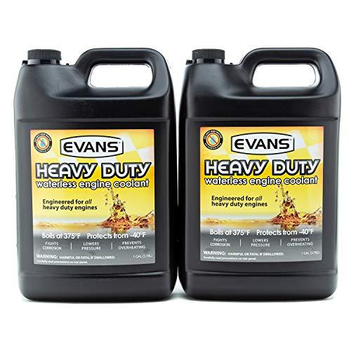 EVANS Coolant EC61001 Heavy Duty Waterless Coolant, 128 fl oz. 2 Gallon Pack