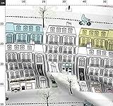 Paris, Frankreich, Stadt, Architektur, Gebäude, Pastell