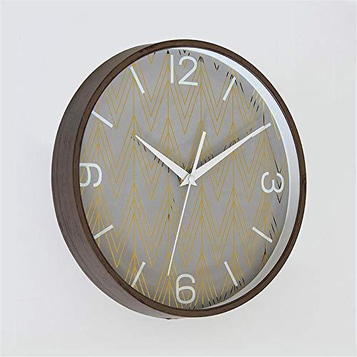JKJND Reloj De Pared Moderno Reloj De Pared Silencioso para La Decoración del Hogar Minimalista Relojes De Pared De Oro Vintage Misterioso Redondo Cuarzo Aguja Relojes-D